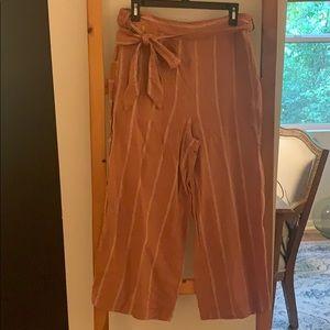 Anthropologie burnt orange linen pants